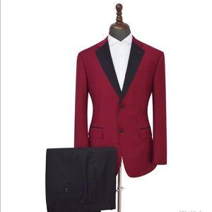 Men's Black lapel 2 Piece Tuxedo